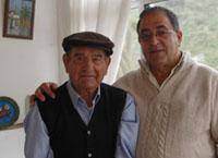 José Falcón con el alcalde de Teror, Juan de Dios Ramos