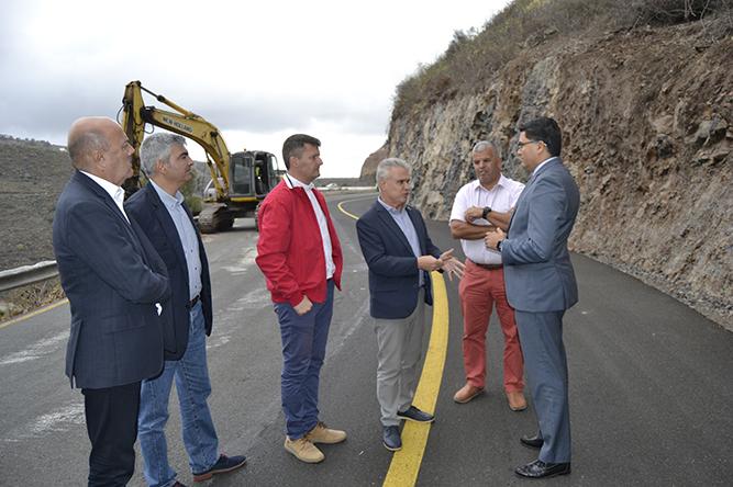 Teror solicita a Obras Pública rapidez en el procedimiento para reabrir la carretera GC-219